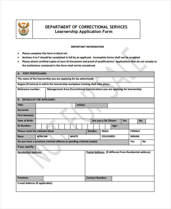 learnership service application