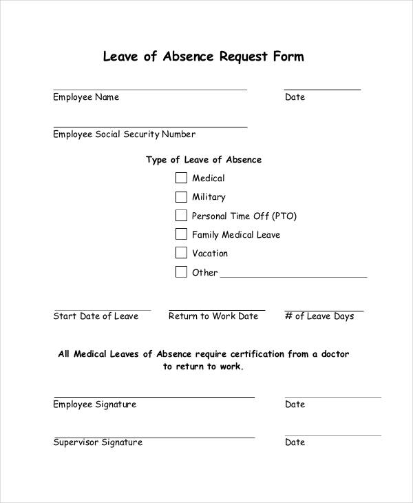 16+ Leave Request Form Sample Free Sample, Example Format Download  Example Of Leave Form