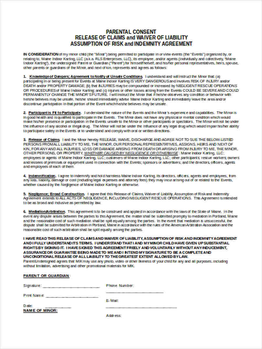 liability claim release