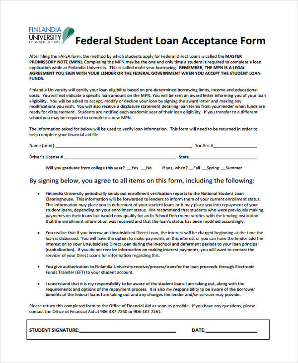 Loan Confirmation Form - 9+ Free Documents In Word, Pdf