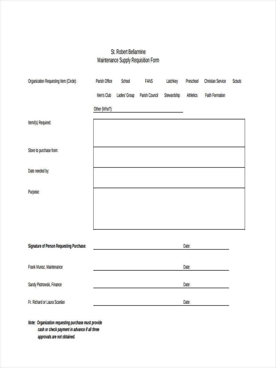 FREE 8+ Supply Requisition Forms in PDF | Excel
