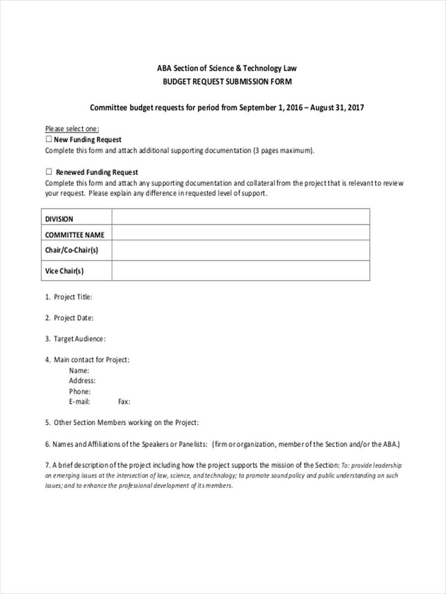 marketing budget request