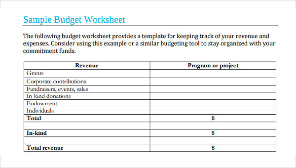 Free 5 Marketing Budget Forms In Pdf Excel