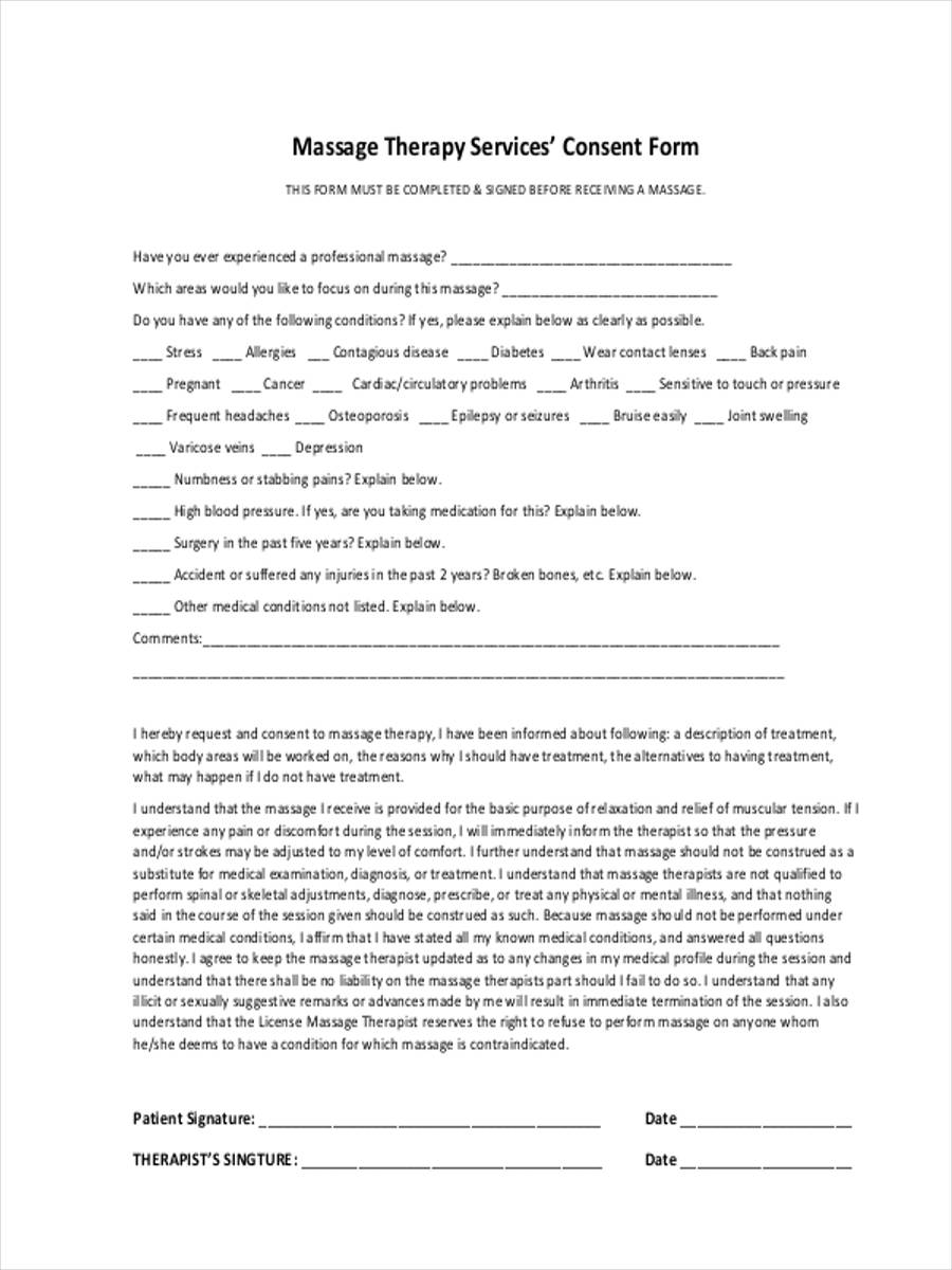 7+ Therapy Consent Forms - Free Sample, Example Format Download
