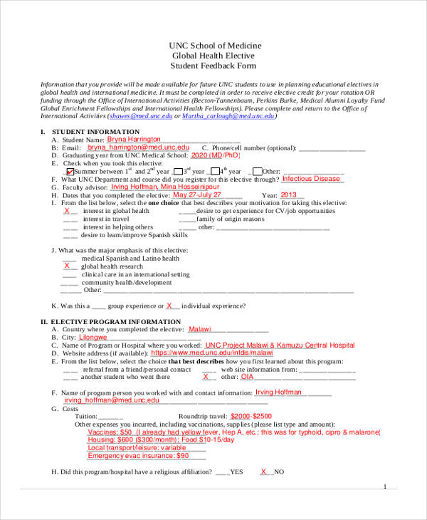 21 Free Student Feedback Forms