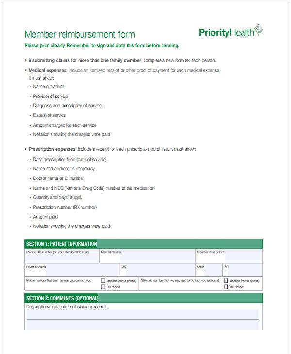 medical member reimbursement