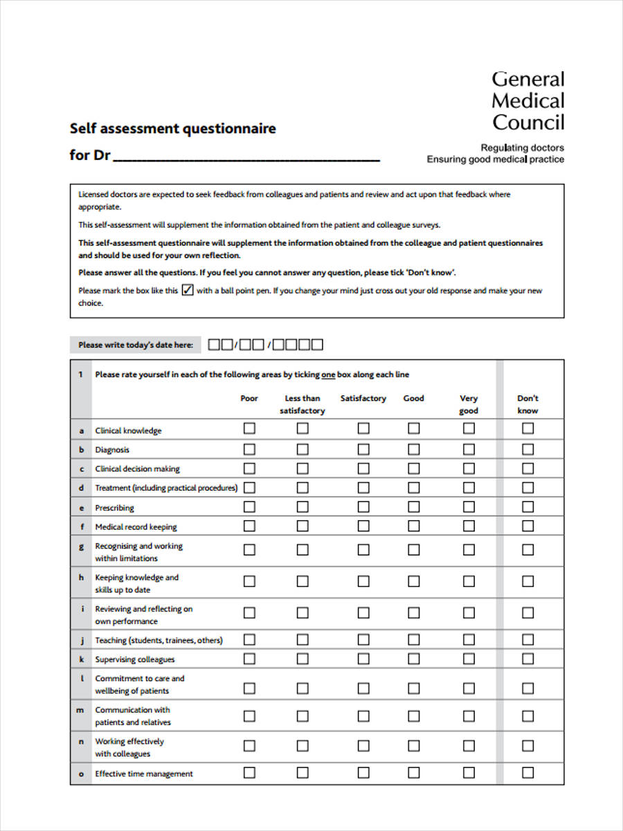Free 38 Questionnaire Forms Pdf
