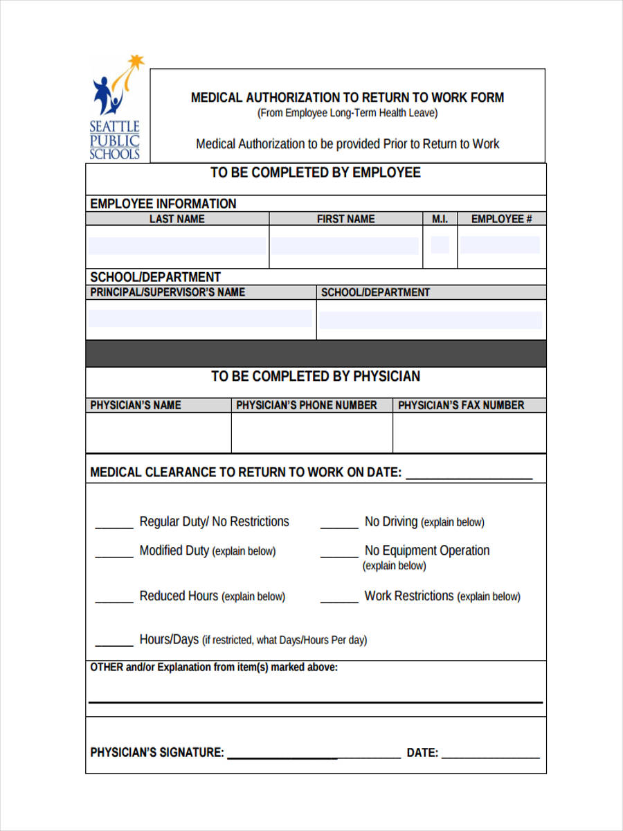 return to work form template beautifuel me 18 return to work form images fake return to