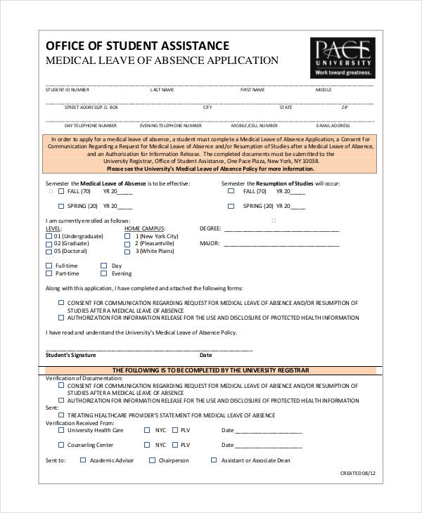 medical leave application
