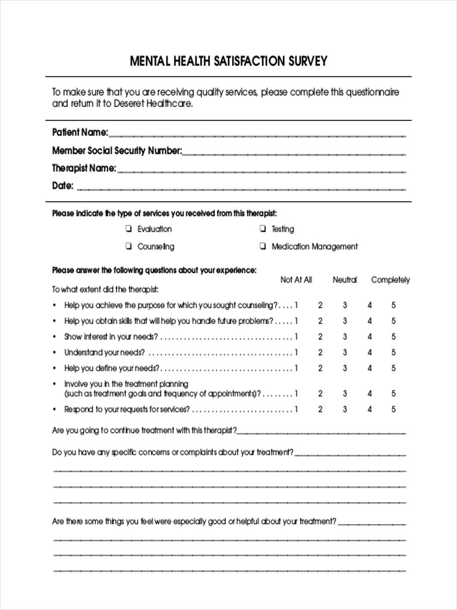 FREE 7+ Patient Satisfaction Questionnaire Forms in PDF ...