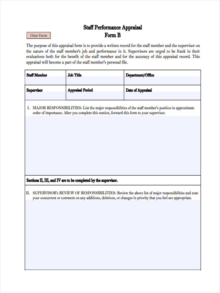 Doc600650 Employee Monthly Review Template Sample Employee – Share Certificate Template Uk