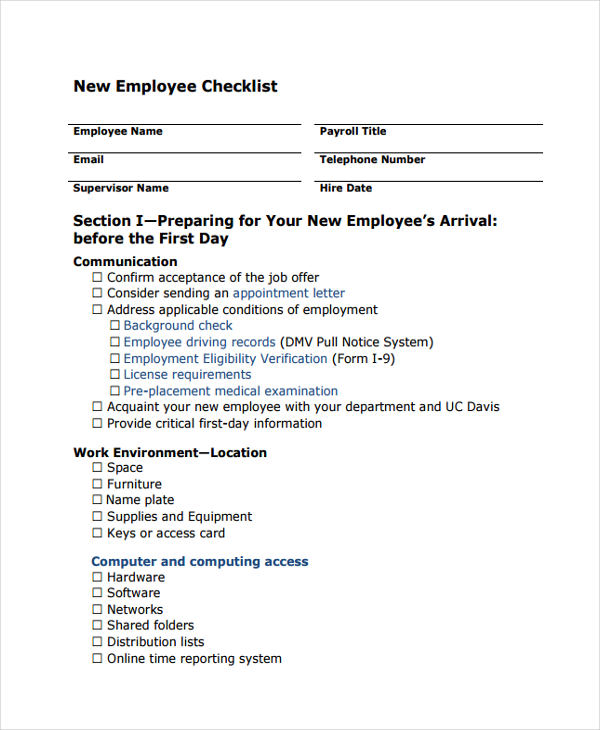 9 employee confirmation form sample free sample for New job documents required