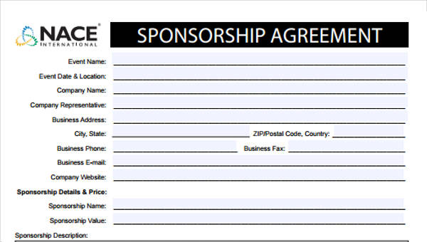 7 Event Sponsorship Form Sample Free Sample Example Format Download