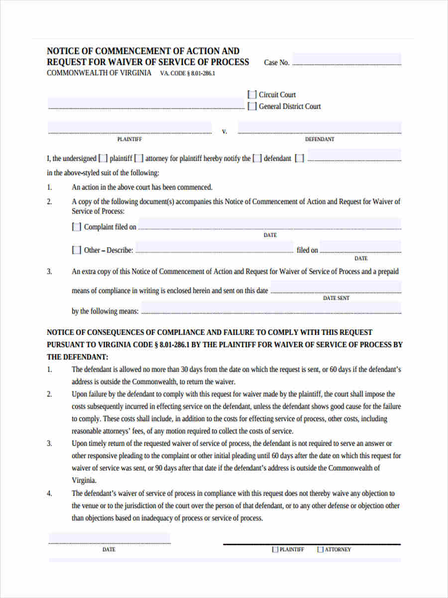 free 7  notice of commencement forms in pdf