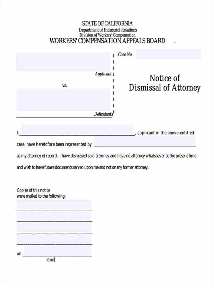 notice of dismissal attorney