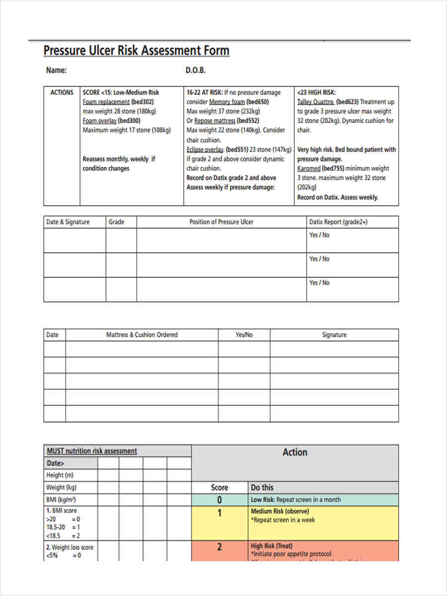 nutritional assessment project Page 1 nutrition assessment form name_____ date _____ address_____ phone _____.