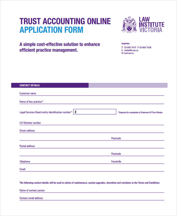 online accounting form
