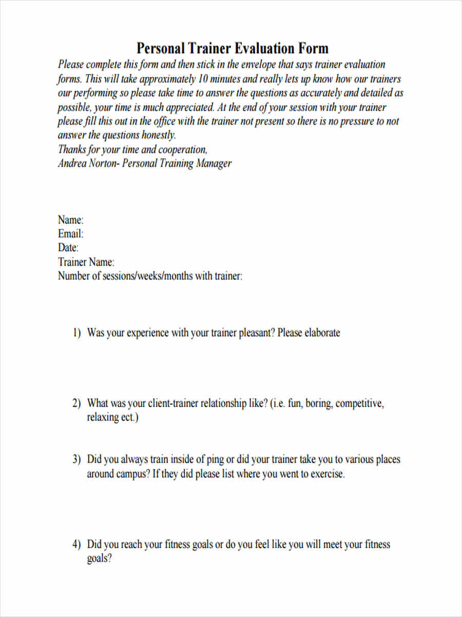 free 7  training review forms in samples  examples  formats