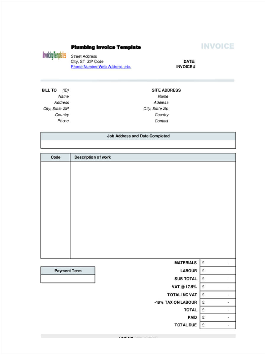 Plumbing-Job Job Application Form In Ms Word Format on