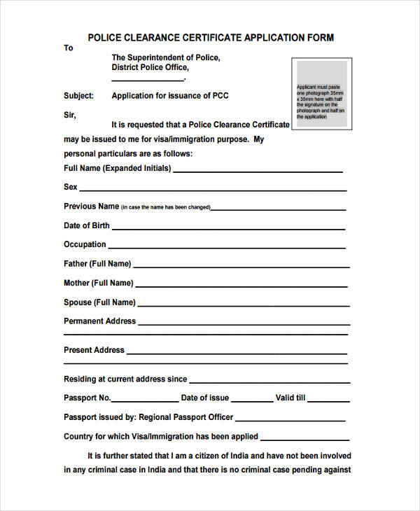 30+ Sample Clearance Forms