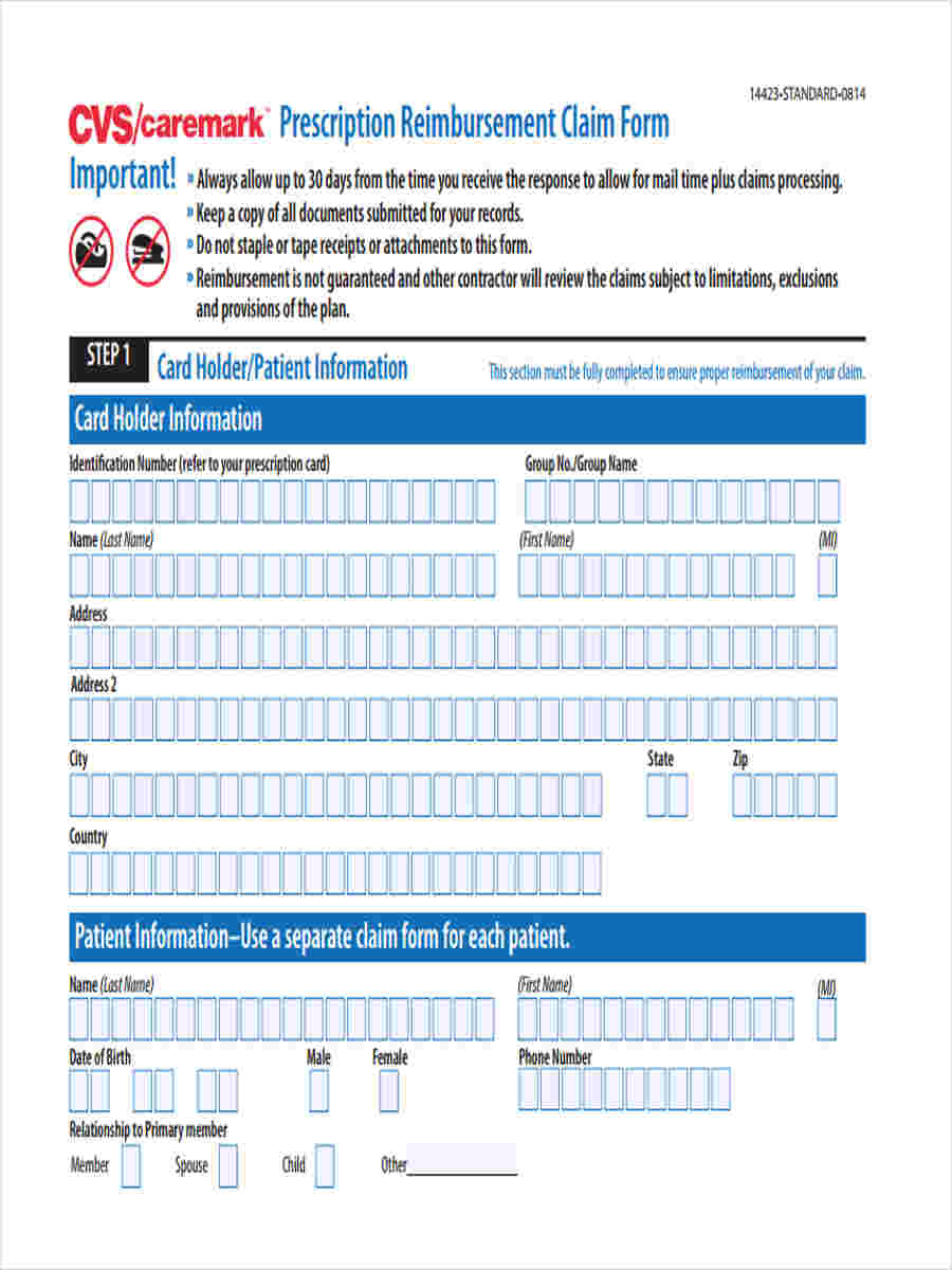 claim reimbursement forms