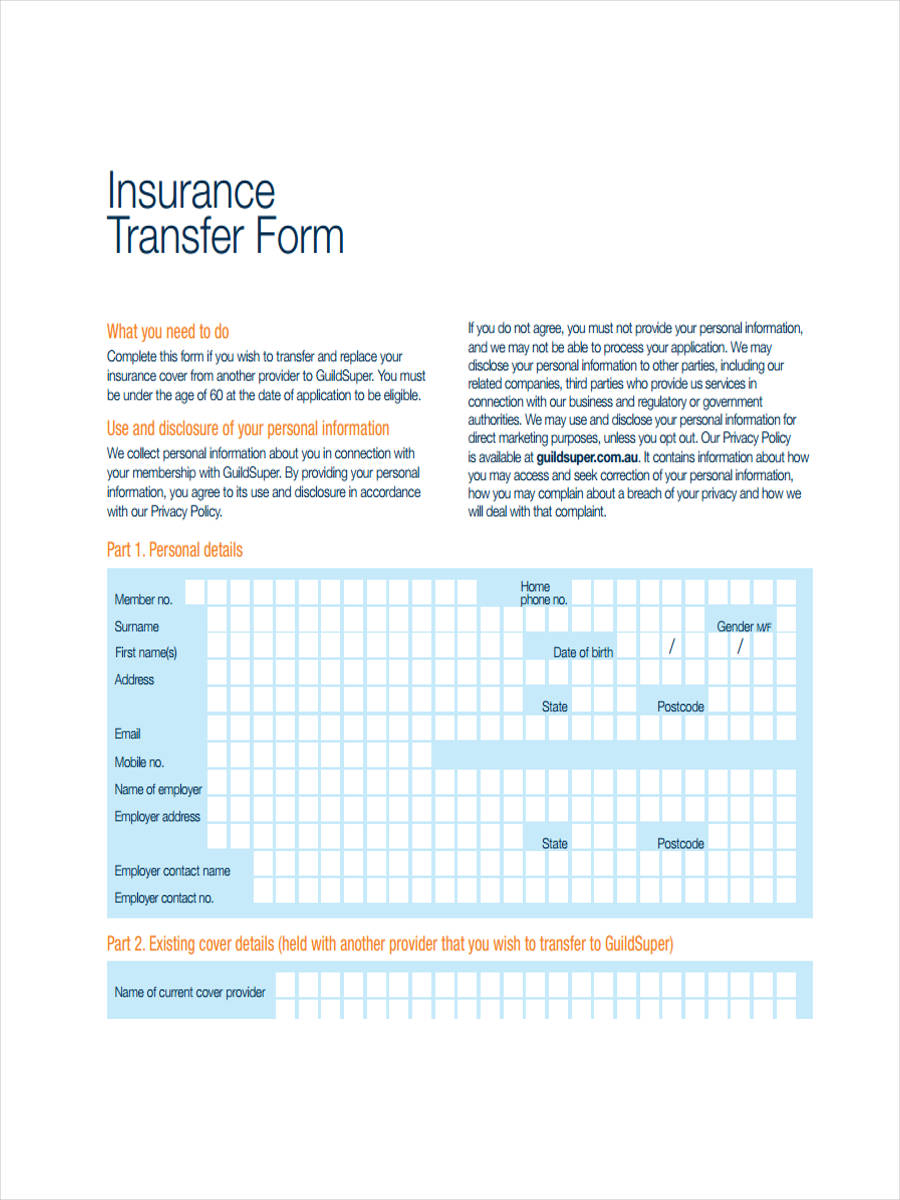 printable insurance