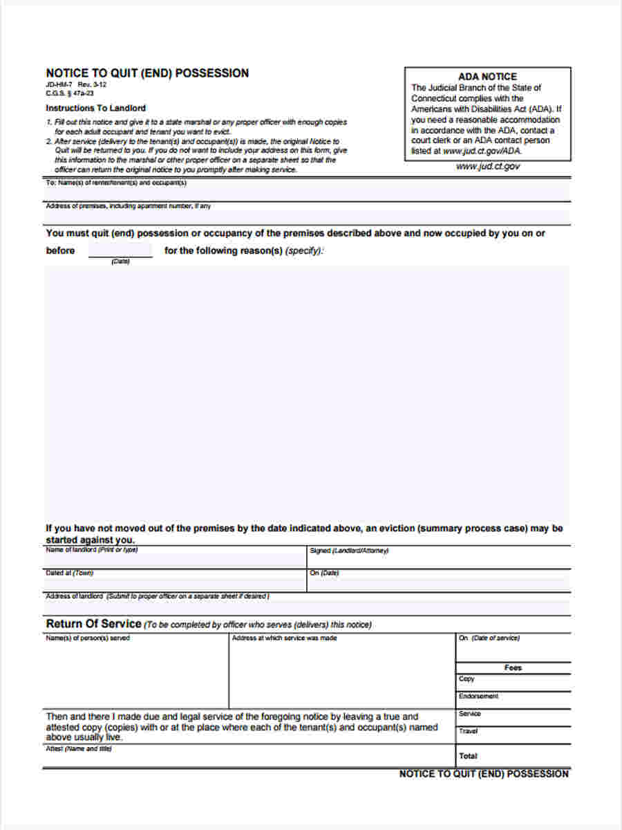 Notice To Quit Forms  5+ Free Documents In Word, Pdf. Best Html Template Invoice. Graduation Party Planning Checklist. Graduate Hotel Ann Arbor. Gender Reveal Invitation Template. Ibm Business Card Template. Online Family Tree Template. Lesson Plan Template Word Doc. About The Author Template