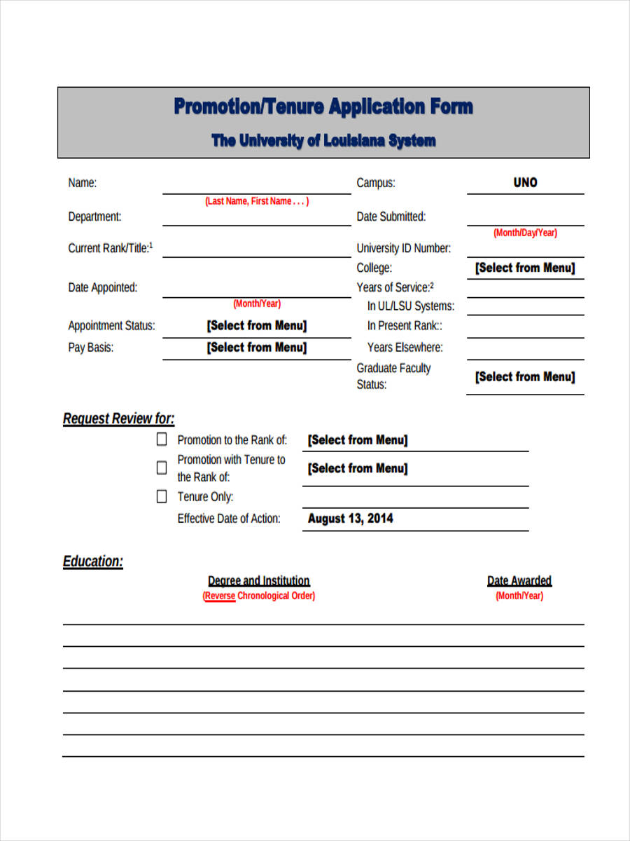 Free 7 Promotion Request Form In Sample Example Format