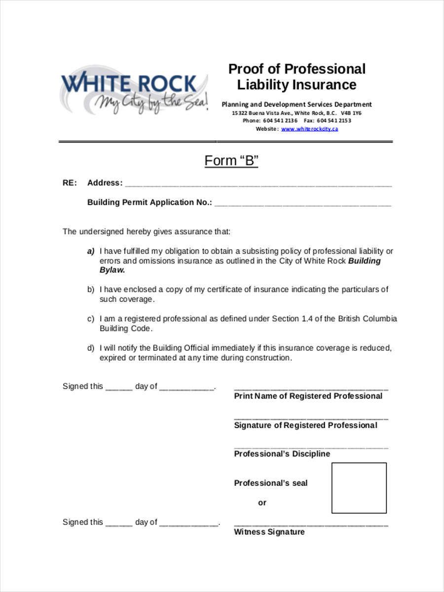 proof of liability insurance