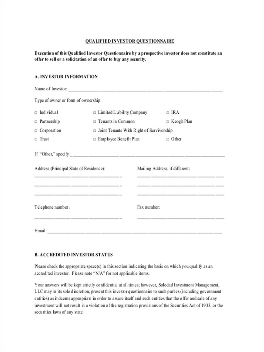 qualified investor form