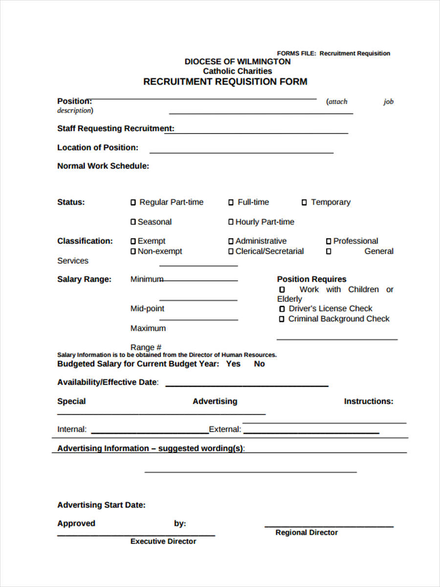 recruitment form example