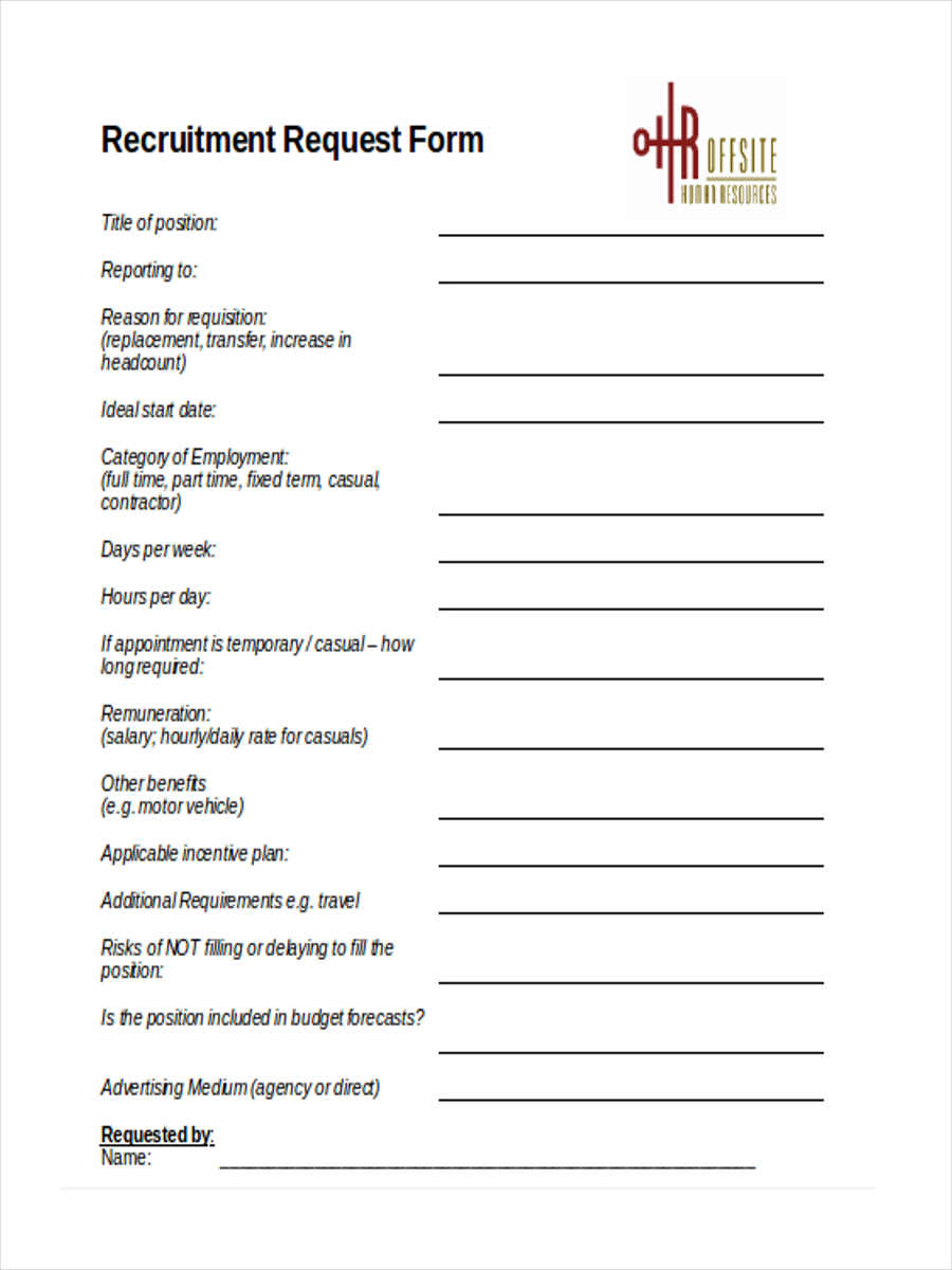 recruitment form sample