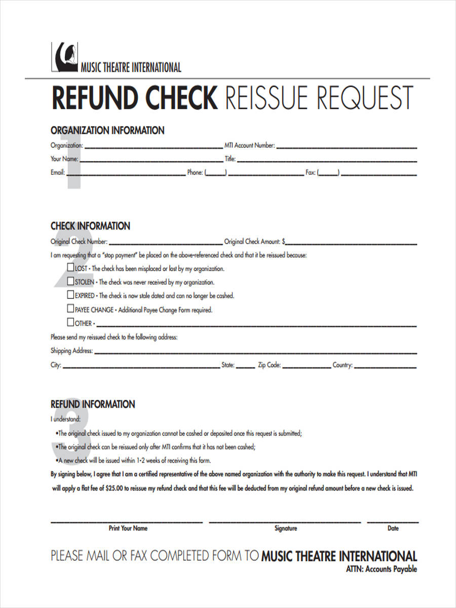 8 refund request form samples free sample example format download refund reissue request altavistaventures Images
