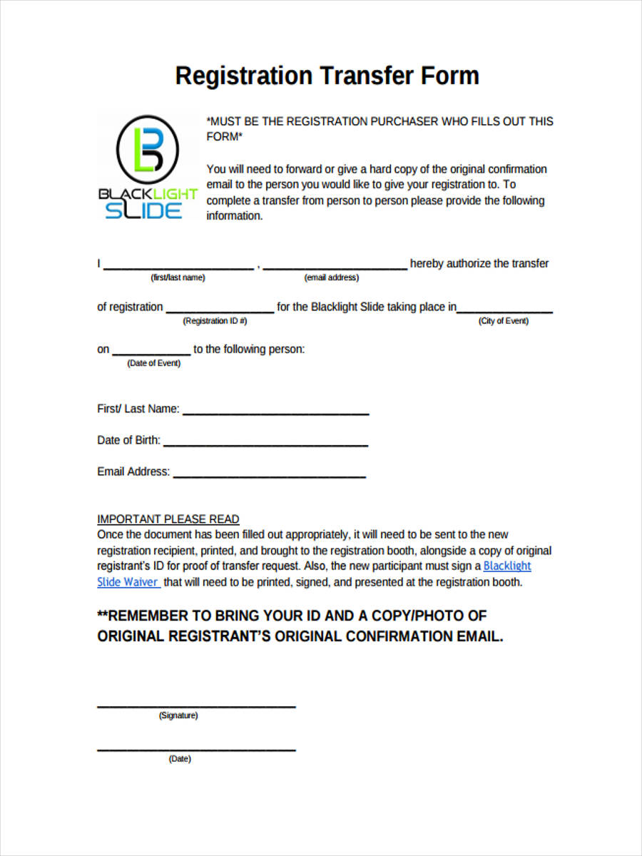 registration transfer in pdf
