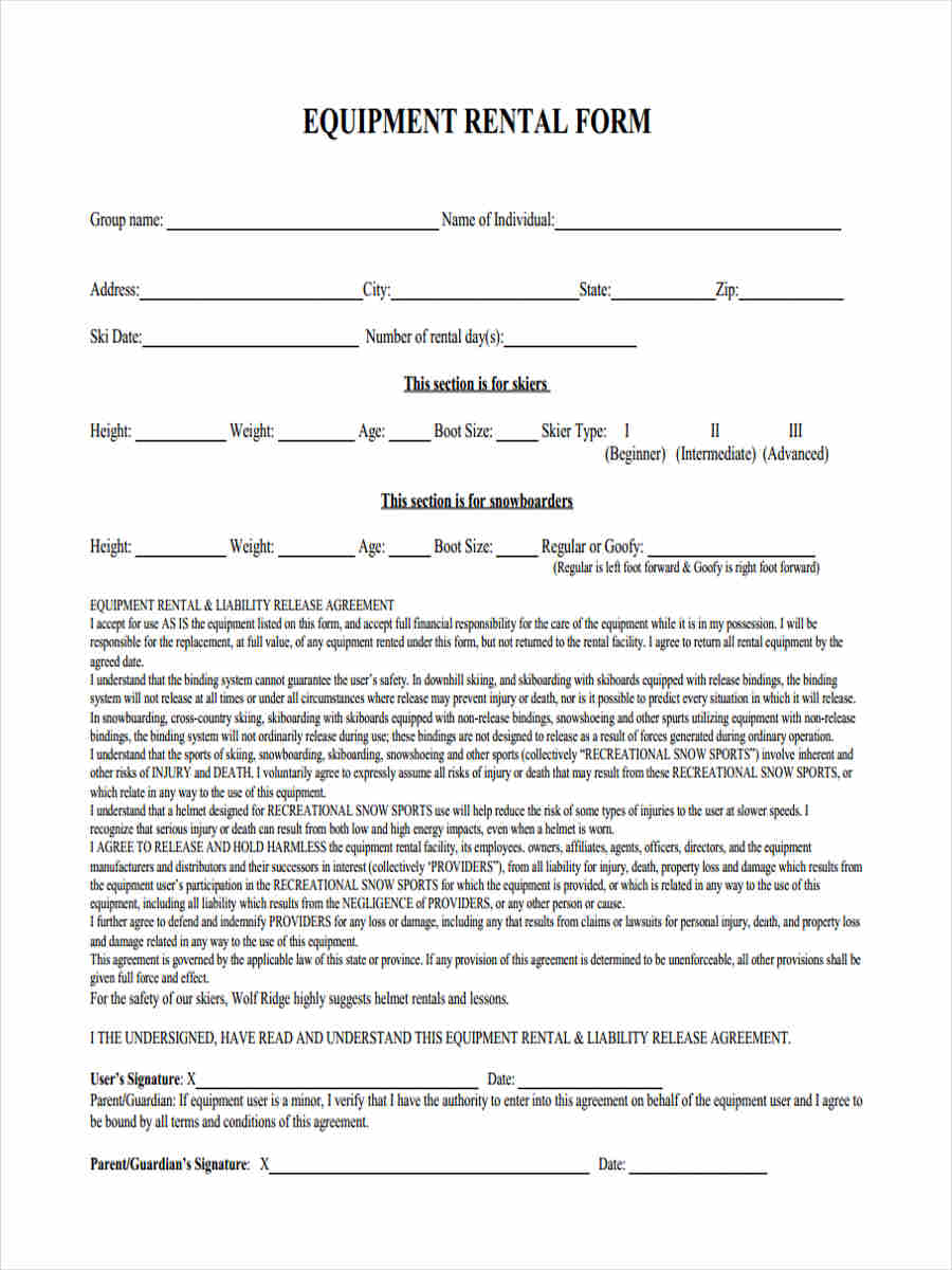 29 Sample Liability Forms