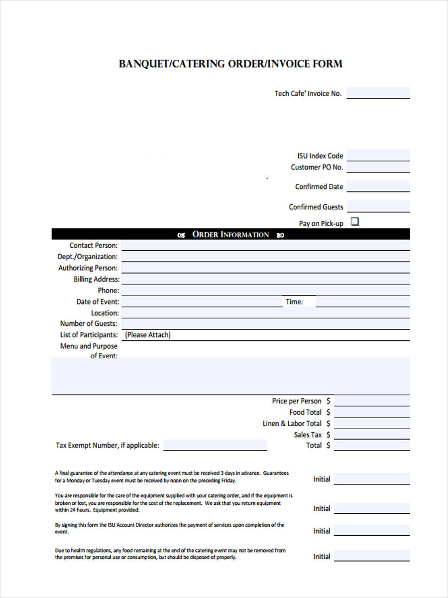 How Do You Make An Invoice Word  Catering Invoice Form Sample  Free Sample Example Format Download Print Fake Receipts Online with Invoice Template Word Free Download Restaurant Catering Invoice How To Write Rent Receipt Pdf
