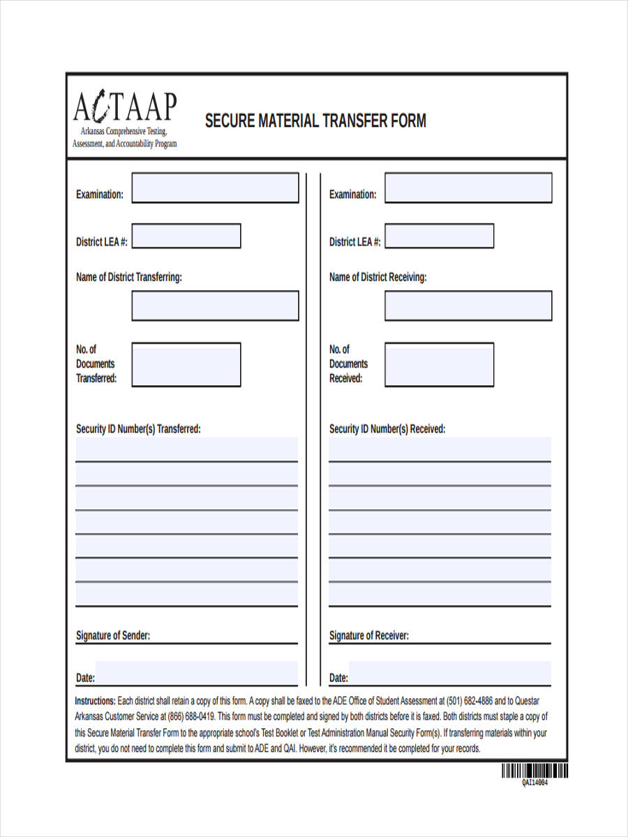7 School Transfer Form Sample Free Sample Example