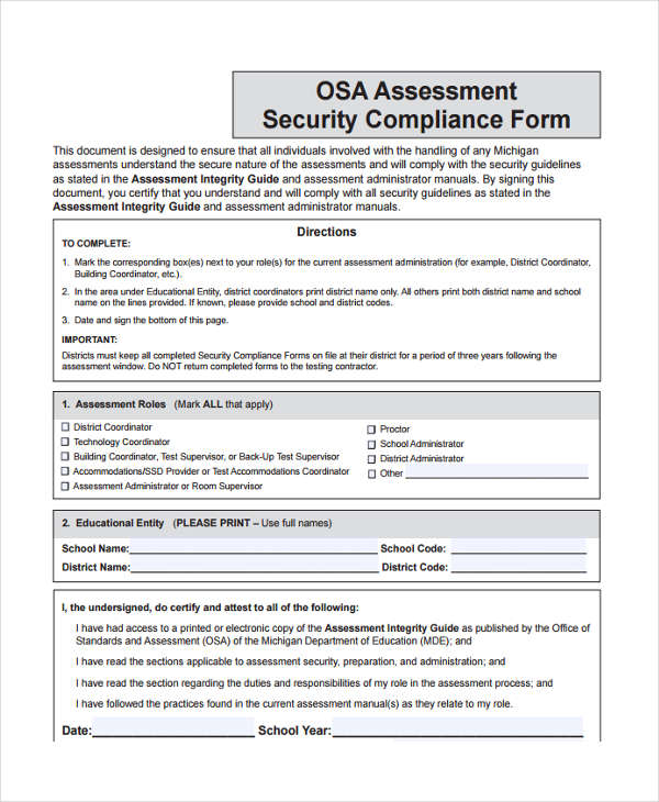 Security Assessment Template: 10+ Free Documents In Word, PDF