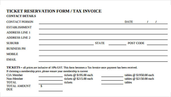 8 Catering Invoice Form Sample