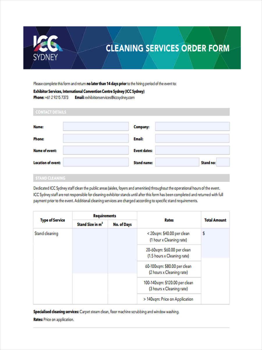 service order form