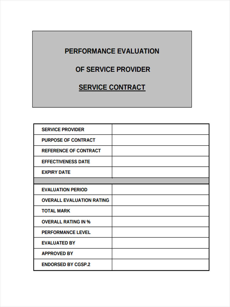 free 13  sample service evaluation forms in word