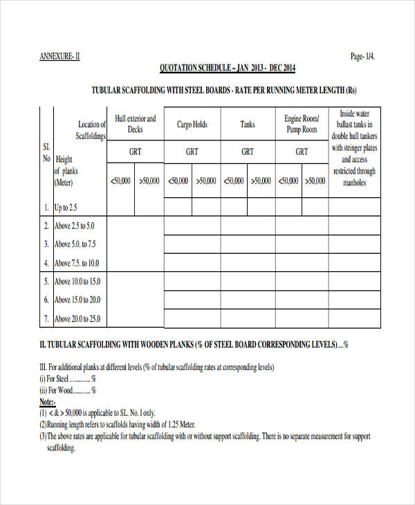 Repair Quotation Samples  Templates In Pdf