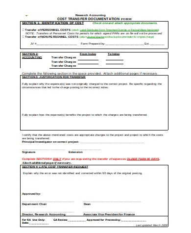 simple accounting transfer form