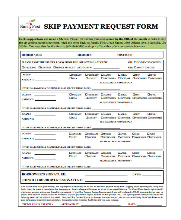 skip payment request