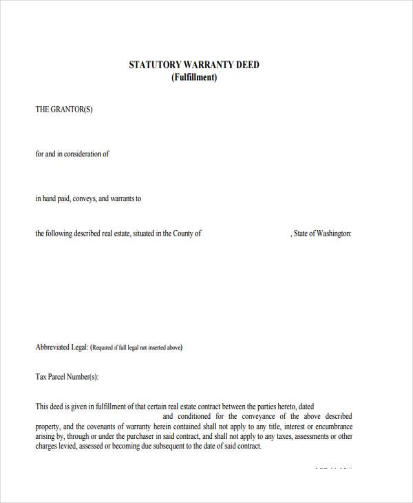 statutory warranty deed