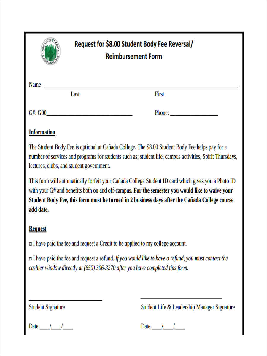 student body reimbursement1