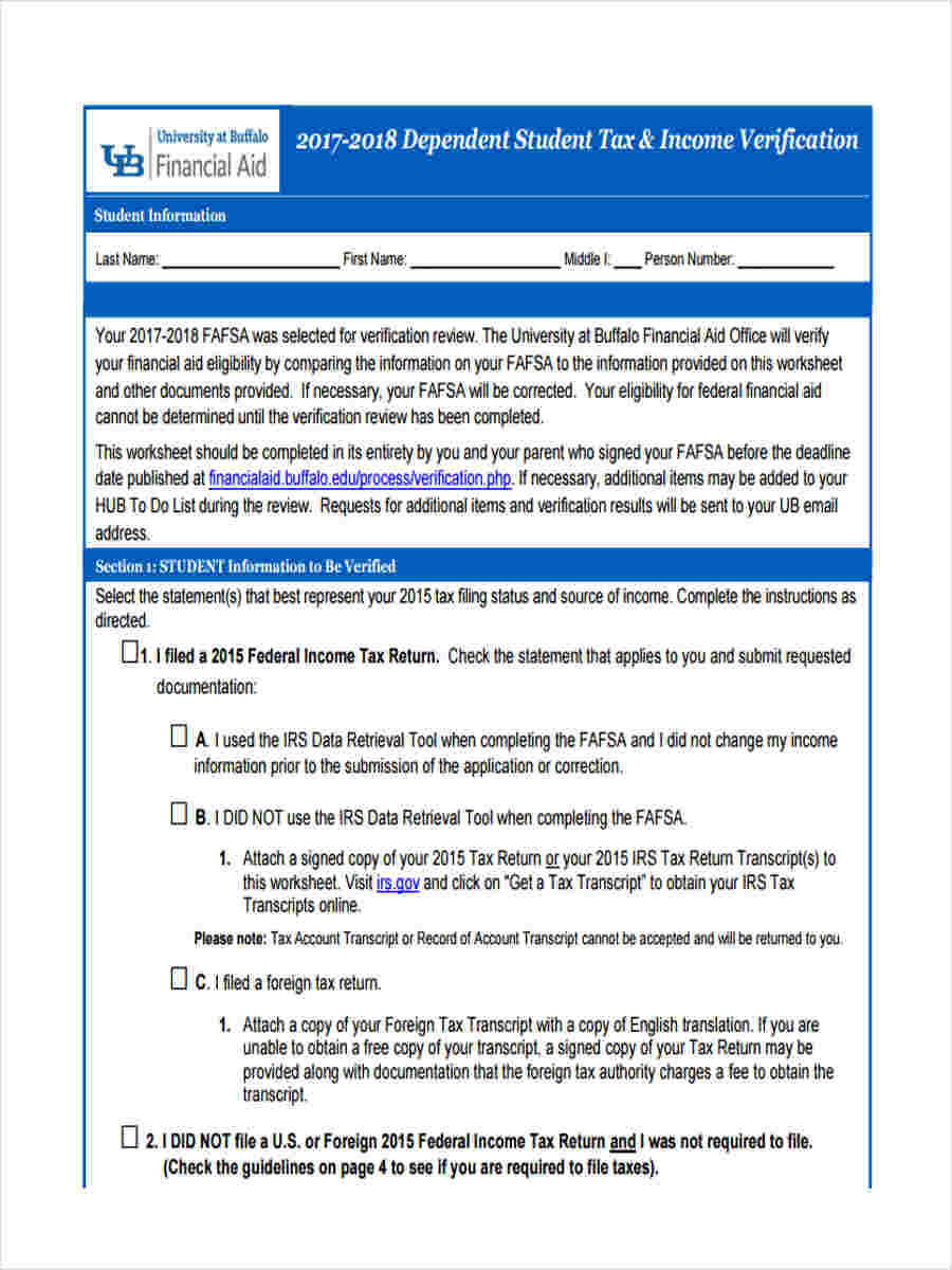 Tax Verification Forms - 5+ Free Documents in Word, PDF