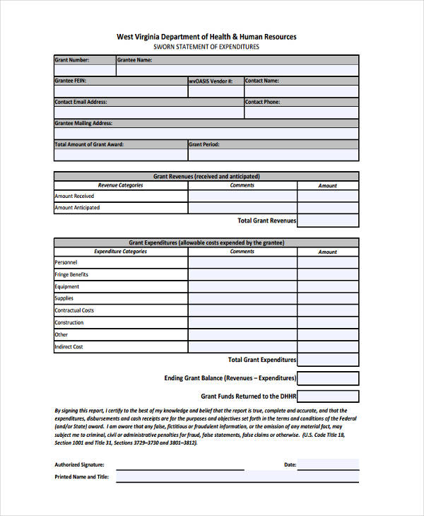 Free Sample Example Format Download  Sworn Statement Form Sample