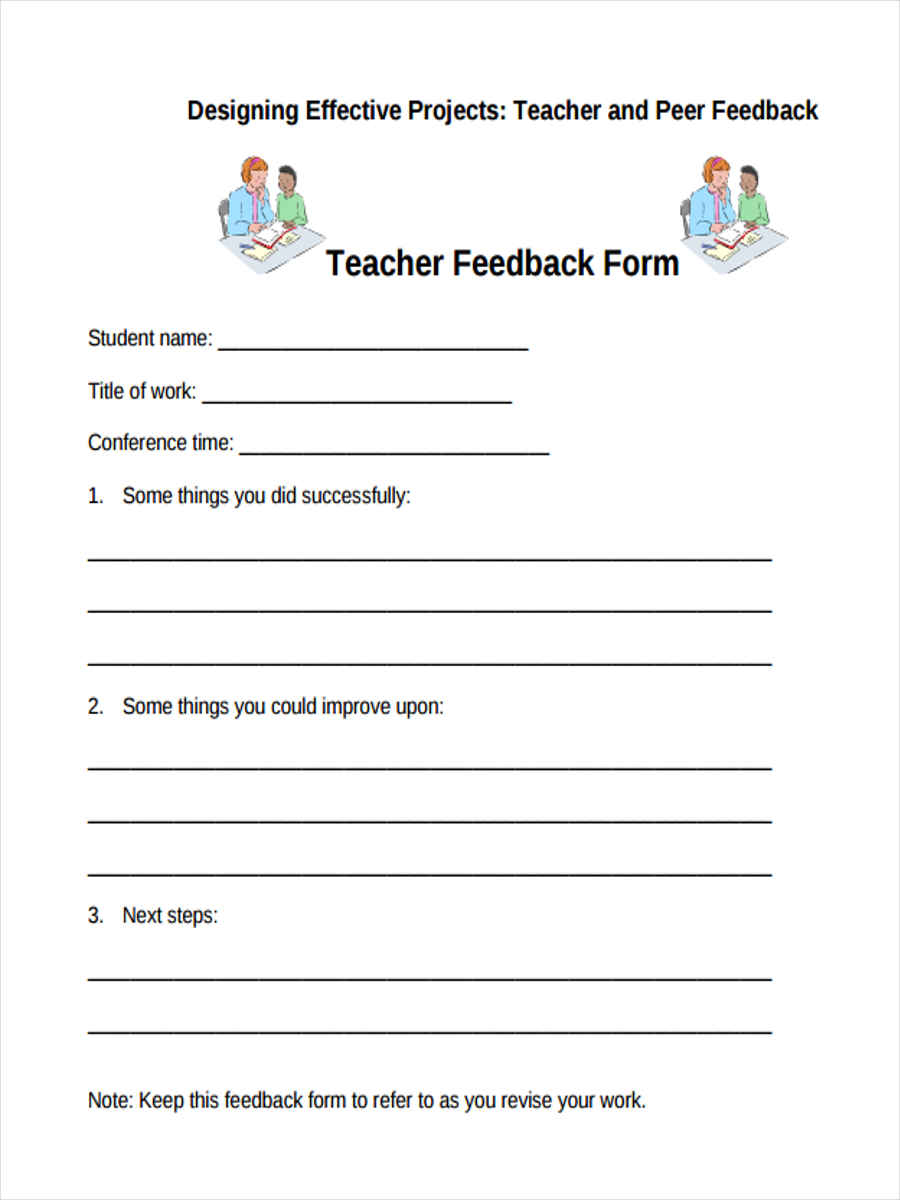 conference note template for teachers