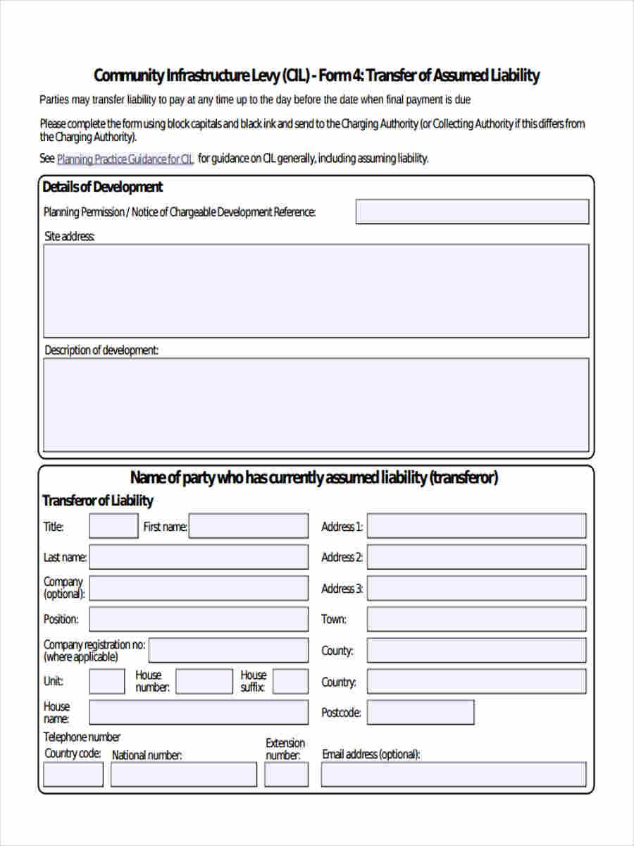 transfer assumed liability